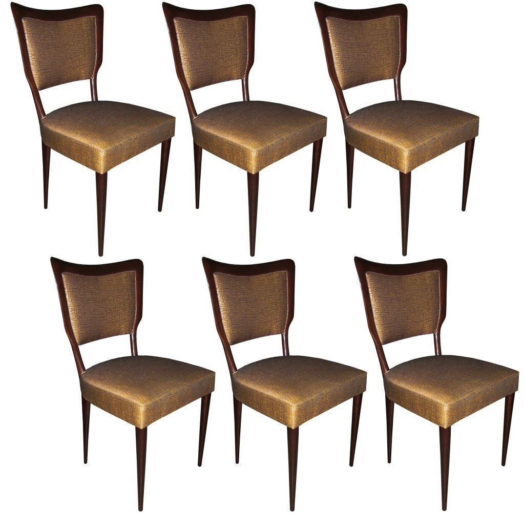 Set of 6 Paolo Buffa Dining Chairs