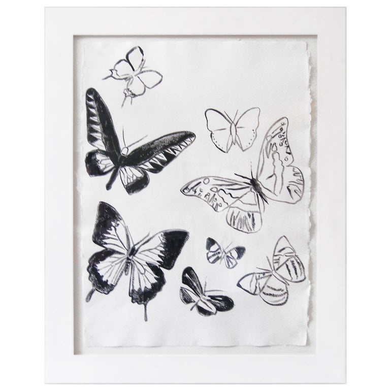 Untitled 'Butterflies' Acrylic on Paper by Andy Warhol, circa 1986 1