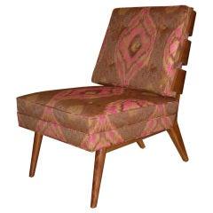 Rare T.H. Robsjohn-Gibbings Walnut Slat Back Chair