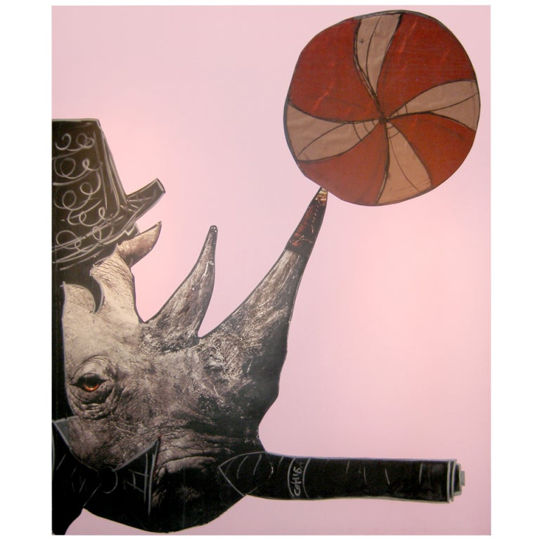 Rhino Light Purple by Domingo Zapata, 2012 For Sale