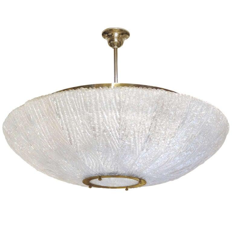 Venini Textured Glass Chandelier