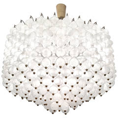 Italian Interlocking Glass Chandelier