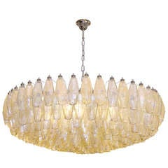 Italian Amber and Grey Polyhedral Chandelier