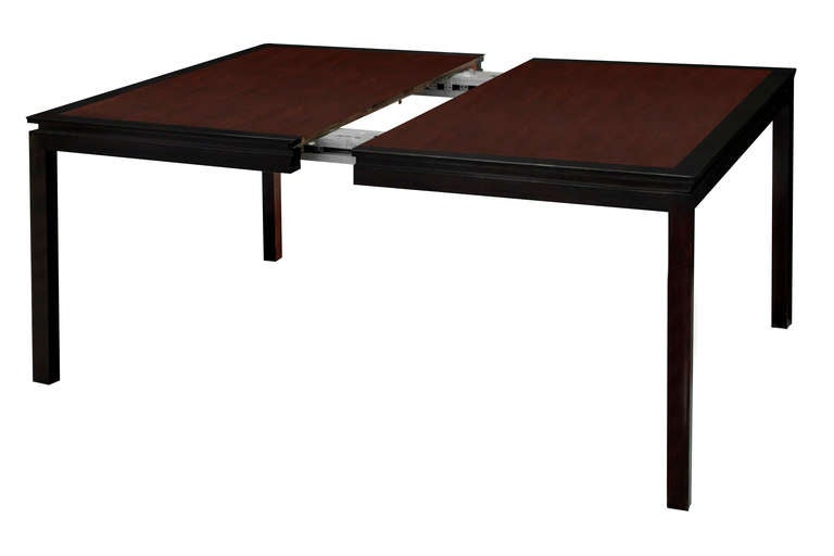 Large extension dining table by edward wormely for dunbar for Dining room tables 120 inches