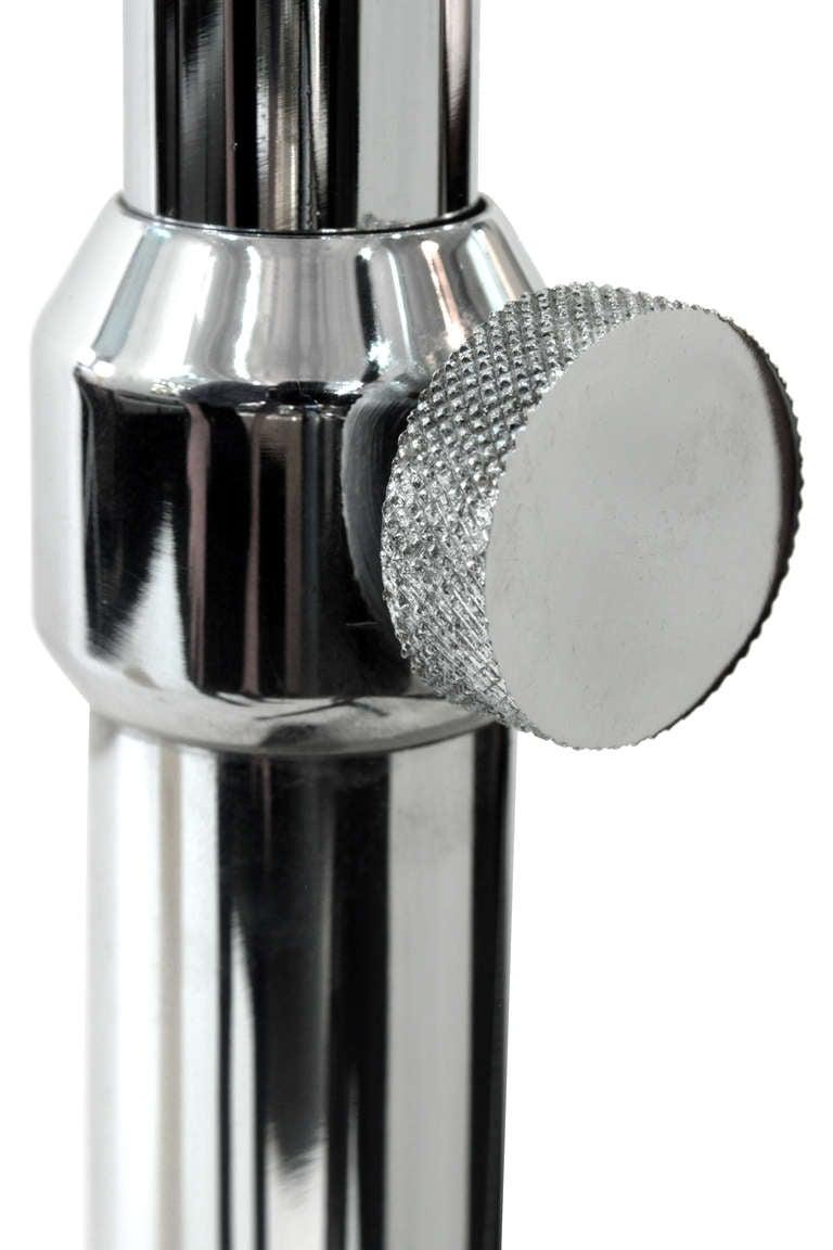Adjustable polished steel floor lamp by arredoluce for for Arredo luce