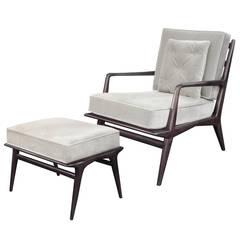 Sculptural Lounge Chair and Ottoman by Carlo de Carli