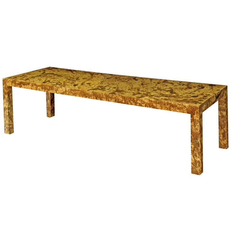 Coffee Table with Oil Dripped Lacquered Finish by