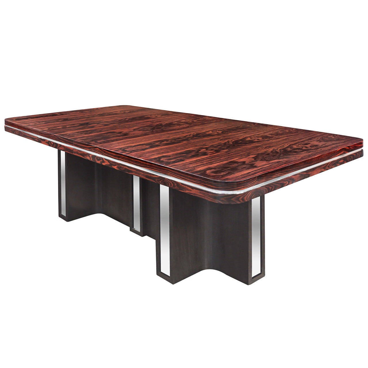 Exceptional Dining Table In Macassar Ebony By Tommi Parzinger 1