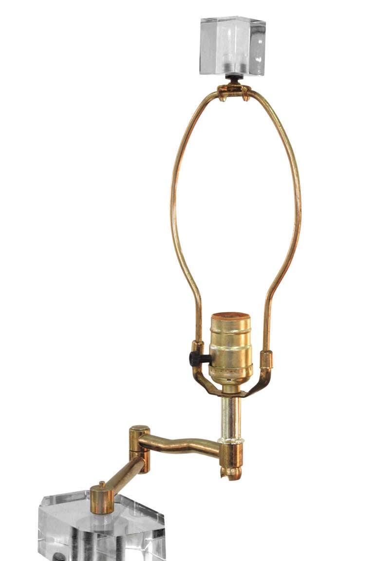 Impressive Sculptural Lucite Swing-Arm Floor Lamp 3