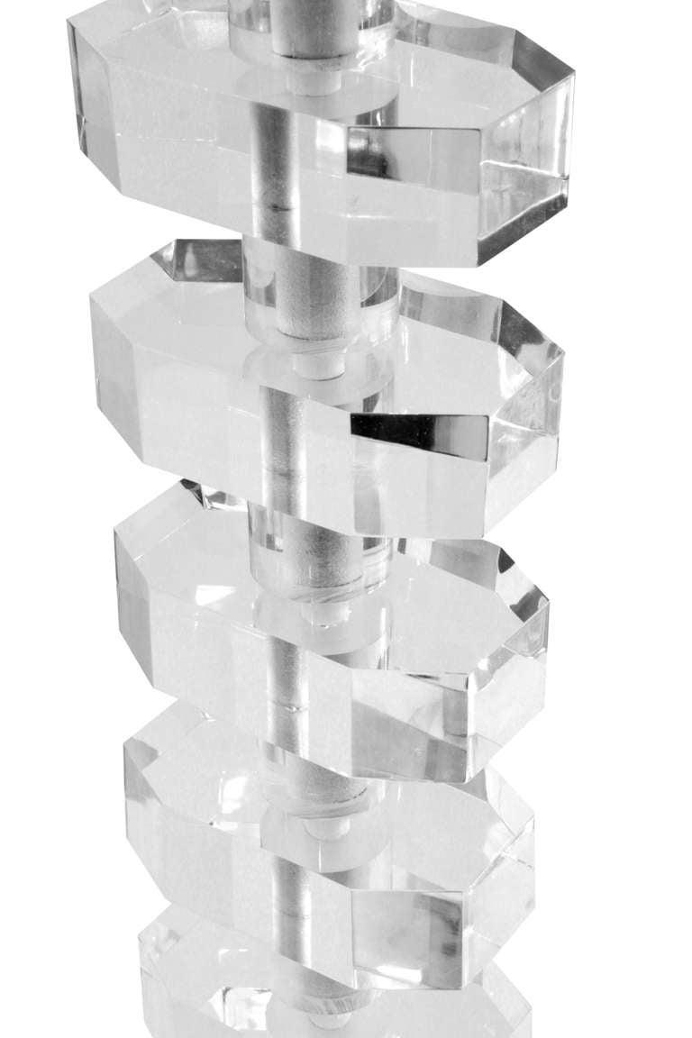 Impressive Sculptural Lucite Swing-Arm Floor Lamp 5