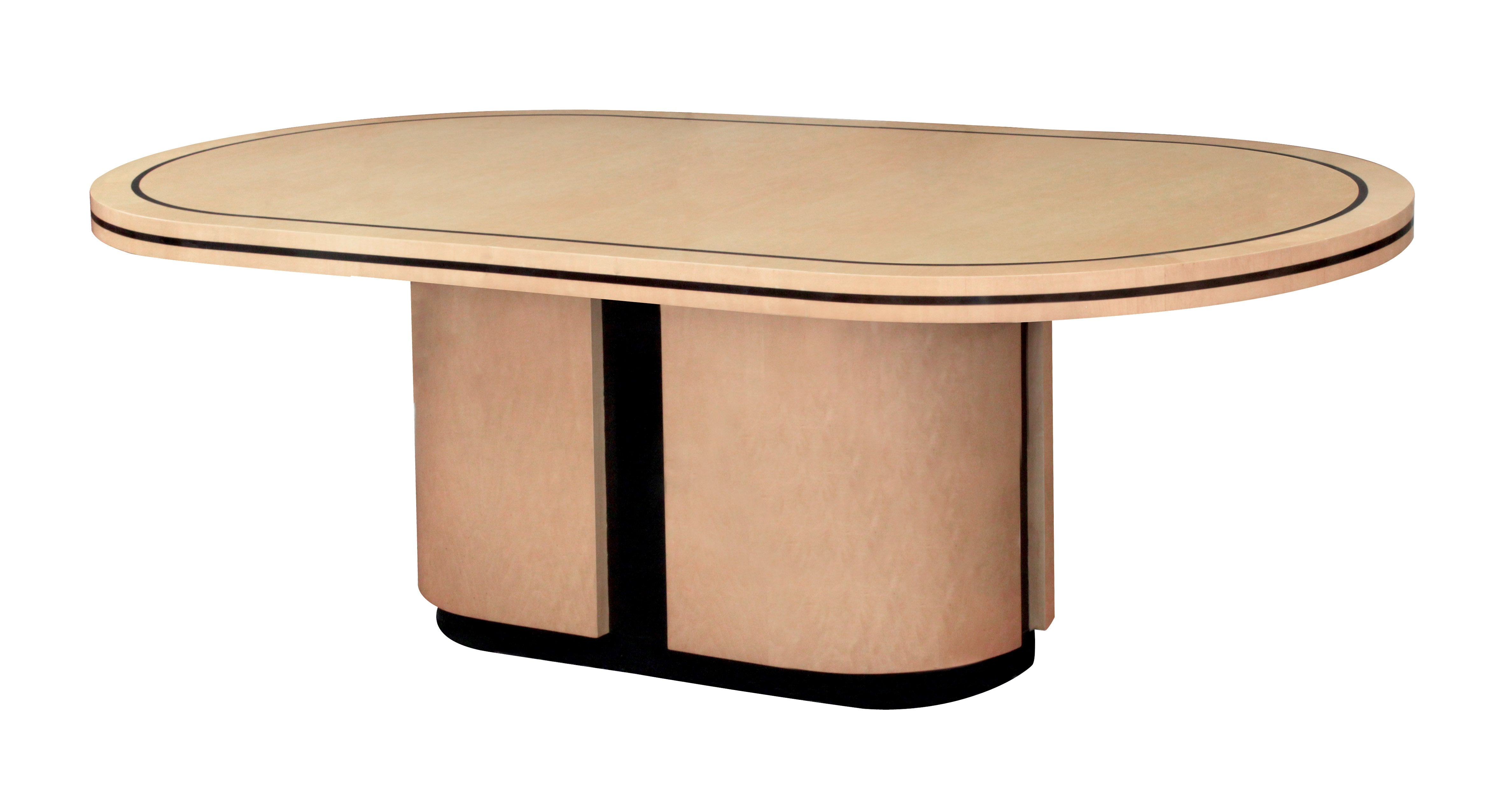 Elegant Dining Room Table with Inlays by Tommi Parzinger