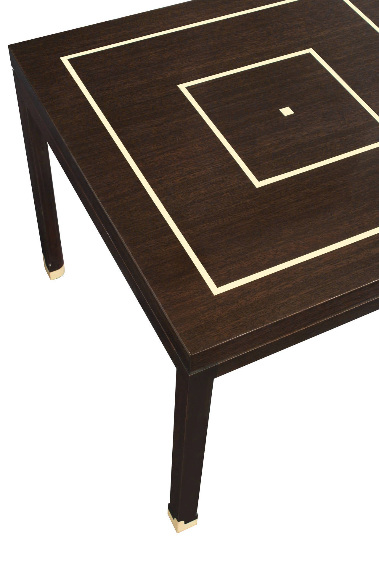 Mid-Century Modern Elegant Side Table with Inlays by Tommi Parzinger For Sale