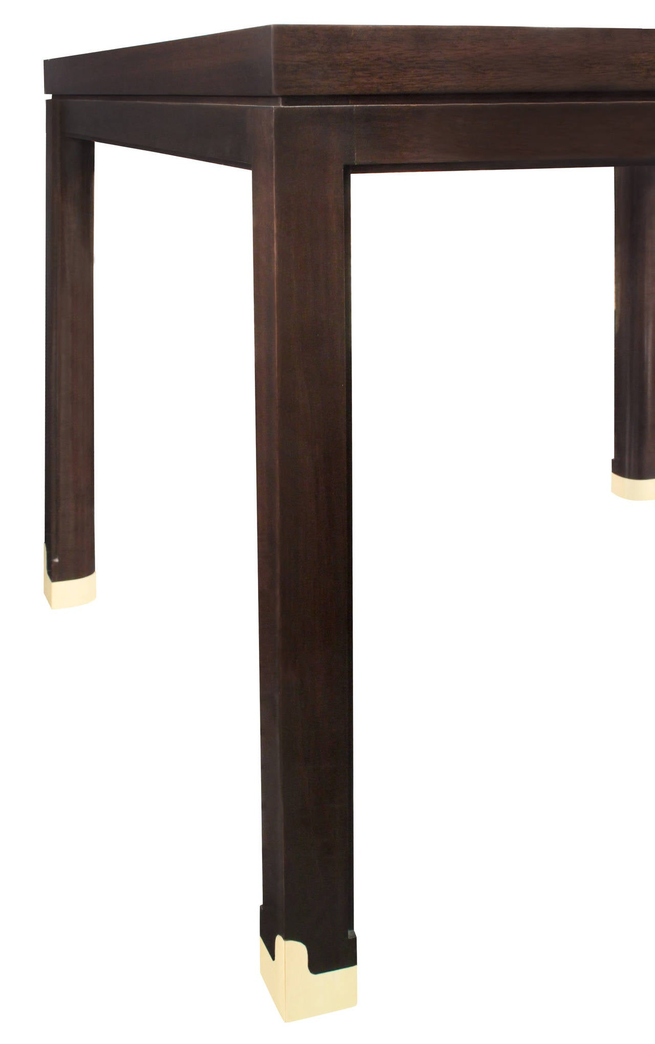 Hand-Crafted Elegant Side Table with Inlays by Tommi Parzinger For Sale