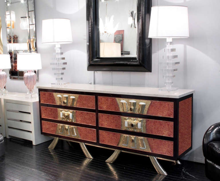 Rare and Exquisite Chest of Drawers by Jacques Duval-Brasseur 8