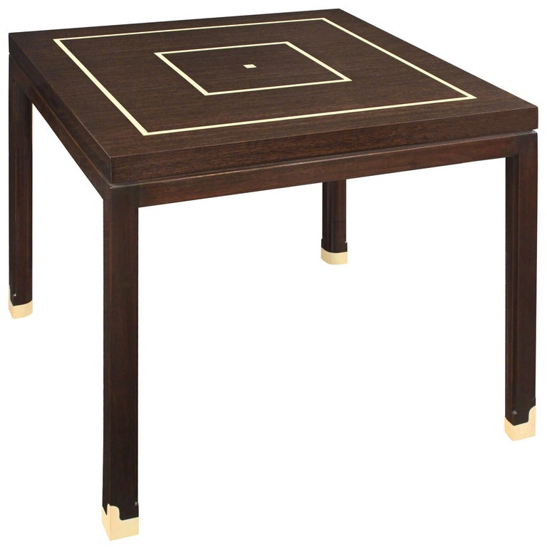 Elegant Side Table with Inlays by Tommi Parzinger For Sale