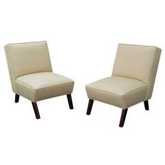 Pair of Elegant Slipper Chairs
