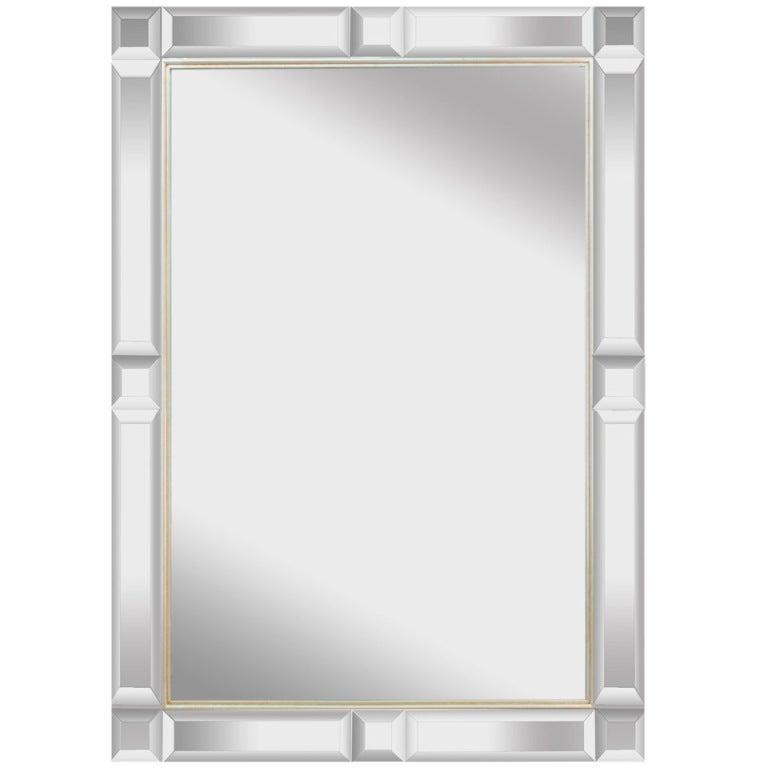 Elegant Wall Hanging Mirror For Rectangular With Beveled