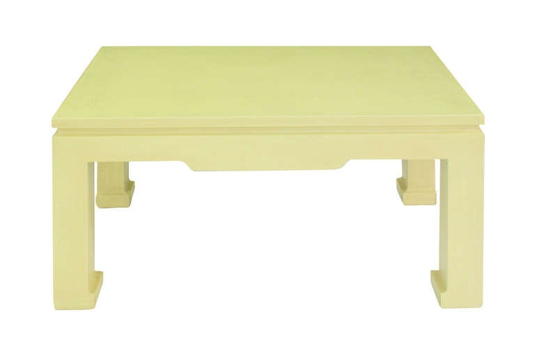 """chinese style coffee table"""" in yellow pythonkarl springer for"""