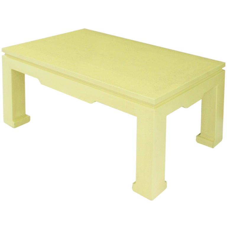 """Chinese Style Coffee Table"" in Yellow Python by Karl Springer"