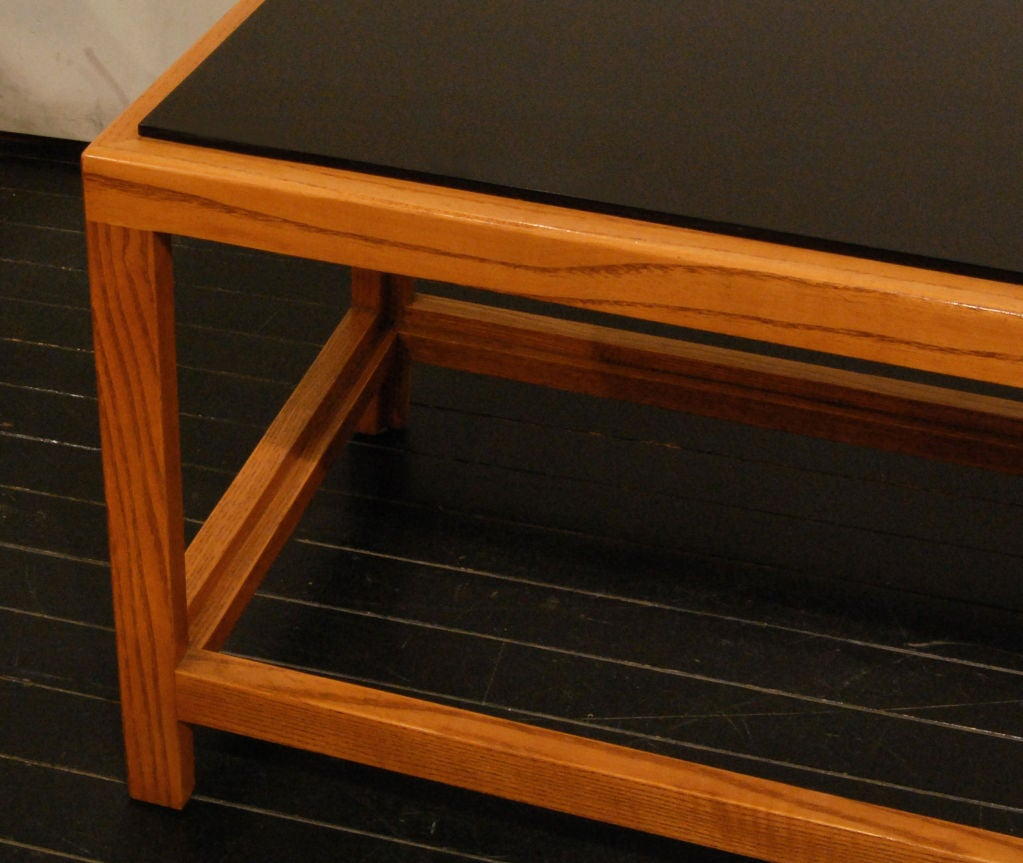 Long Coffee Table With Black Laminate Shelves By Edward Wormley At 1stdibs