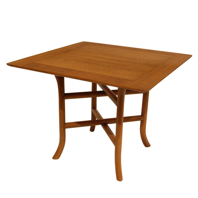 T.H. Robsjohn-Gibbings Side Table with Double Stretchers 1950s For Sale