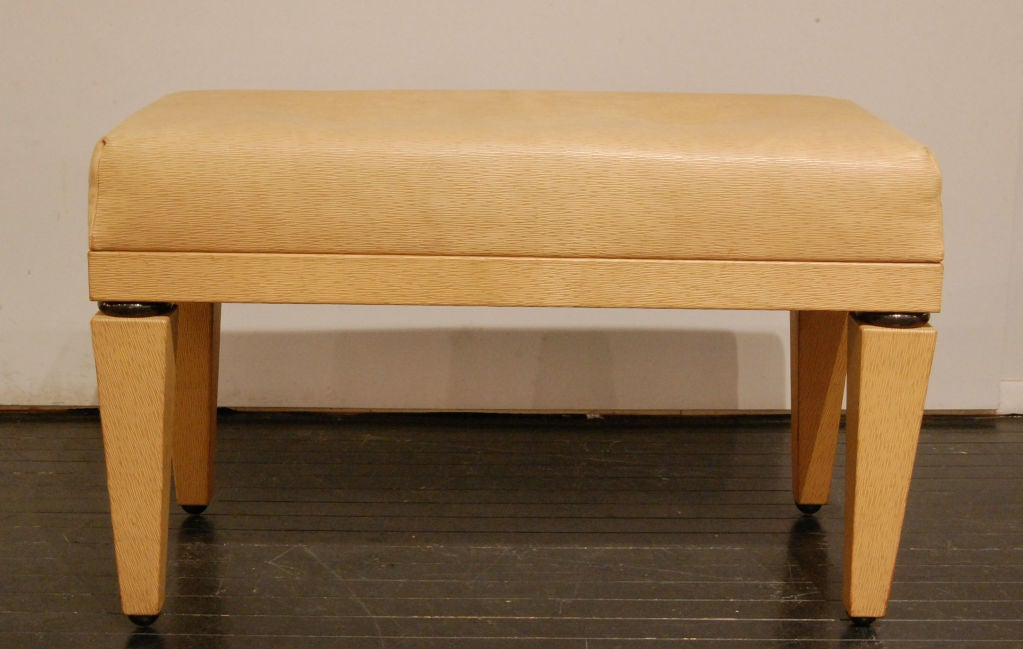 Quot Dorchester Bench Quot In Figured Leather By Karl Springer At