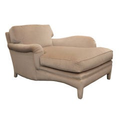Fully Upholstered Chaise with Single Arm by Angelo Donghia