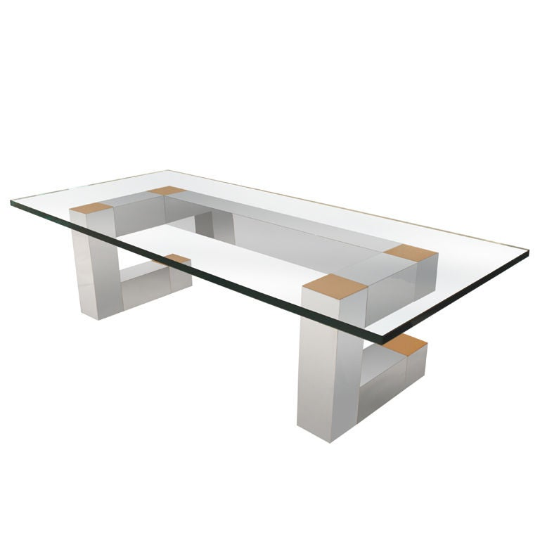 Sculptural coffee table in aluminum and brass by habitat for Coffee tables habitat