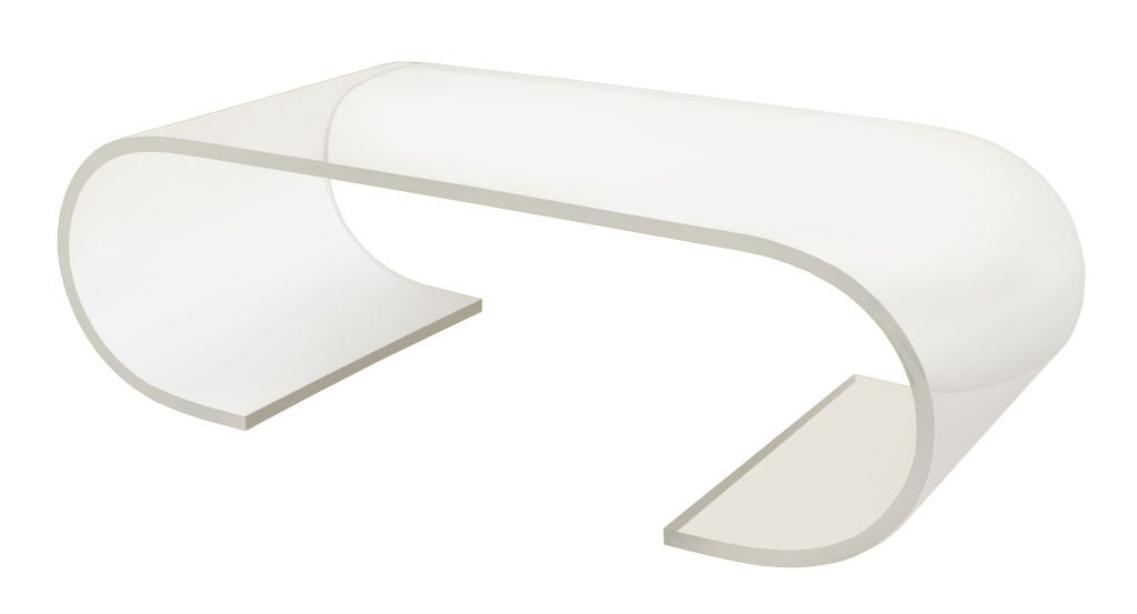 Scroll Coffee Table in Lucite image 2
