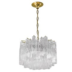 Elegant Chandelier with Hanging Glass Tubes