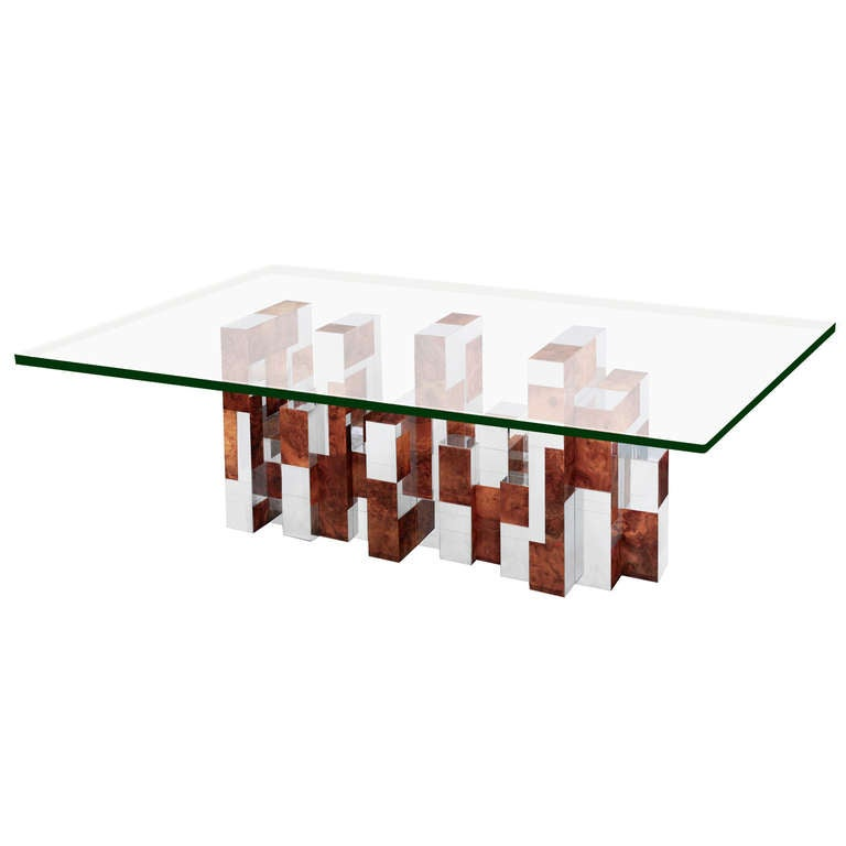 Large sculptural cityscape series dining table by paul for 144 dining table