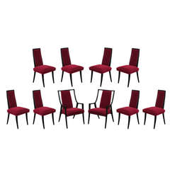 """Set of 10 """"Classic"""" Dining Chairs by Harvey Probber"""
