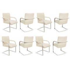 Set of 8 Elegant Dining Chairs by Milo Baughman