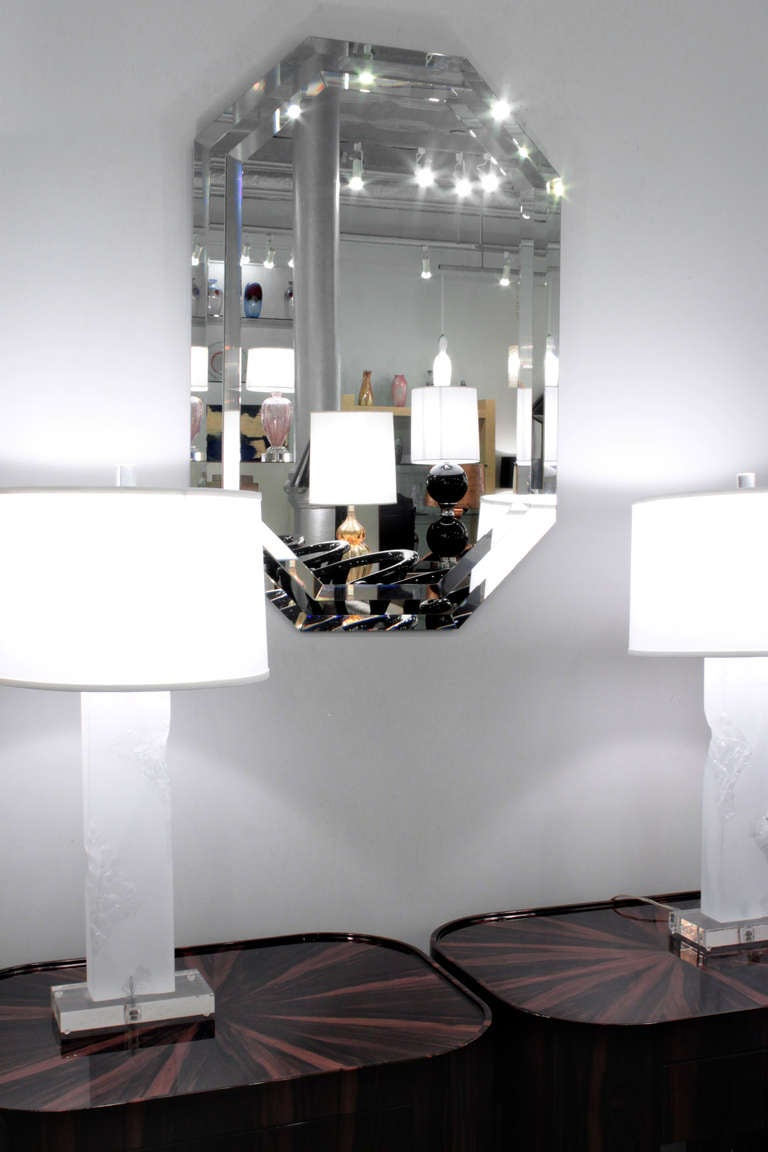 Elegant mirror with double bevel design at 1stdibs for Elegant mirrors