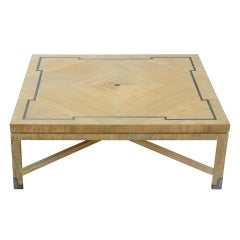 Elegant Coffee Table in Pickled Ash by Tommi Parzinger