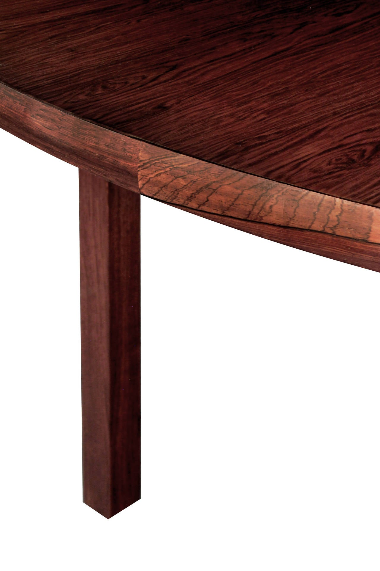 Round Dining Table In Brazilian Rosewood By Edward Wormley 3