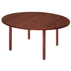 Round Dining Table In Brazilian Rosewood By Edward Wormley