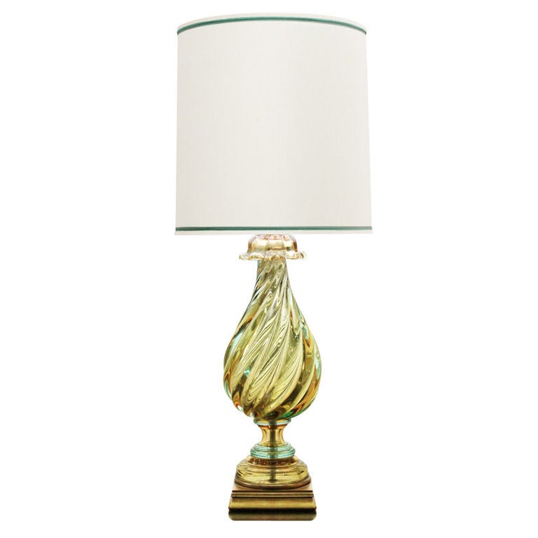 large hand blown glass table lamp by seguso at 1stdibs. Black Bedroom Furniture Sets. Home Design Ideas