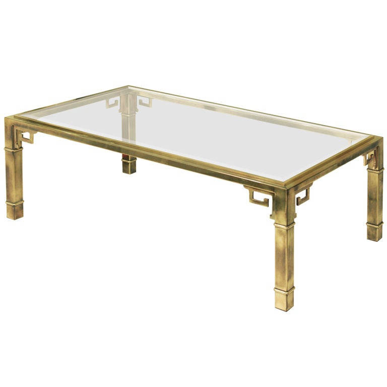 Bronze coffee table by mastercraft at 1stdibs for Bronze metal coffee table