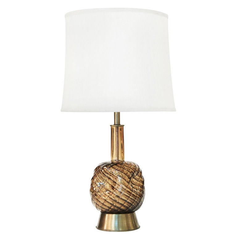 this pair of hand blown diamante glass table lamp by seguso is no. Black Bedroom Furniture Sets. Home Design Ideas