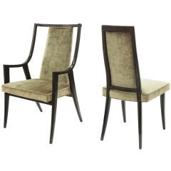 """Set of 10 """"Classic"""" Dining Chairs in Mahogany by Harvey Probber"""
