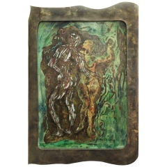 "Large ""Adam and Eve"" Wall Sculpture by Philip and Kelvin LaVerne"