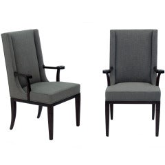 Pair of Elegant Arm Chairs by Tommi Parzinger