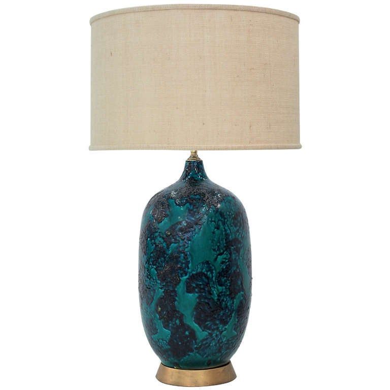 this ceramic table lamp with volcanic blue glaze is no longer. Black Bedroom Furniture Sets. Home Design Ideas