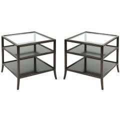Pair of 3 Tier End Tables by Baker