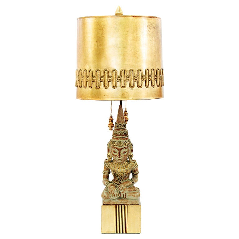 Rare Buddha Table Lamp by James Mont
