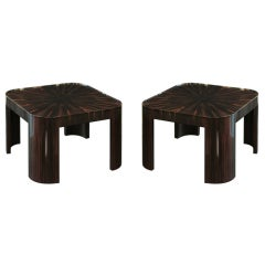 "Pair of ""Night Star Coffee Tables"" in Macassar by Evan Lobel"