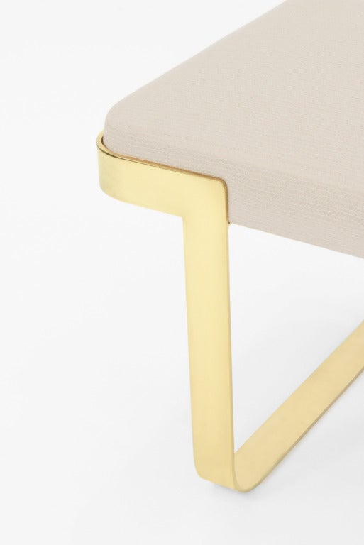 Sculptural Bench with Brass Base by Pace 2