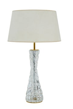 Sculptural Table Lamp with Glass by Carl Fagerlund for Orrefors
