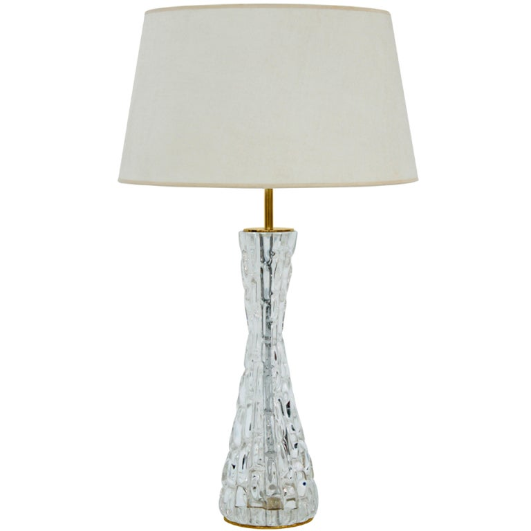 Sculptural table lamp with glass by carl fagerlund for for Table lamps under 50